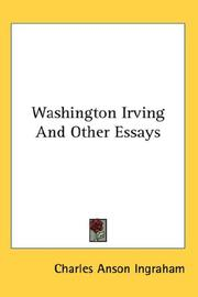 Cover of: Washington Irving And Other Essays