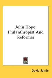 Cover of: John Hope