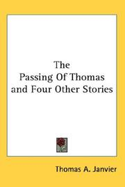 Cover of: The Passing of Thomas and Four Other Stories