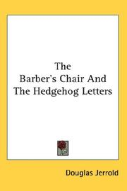 Cover of: The Barber's Chair And The Hedgehog Letters