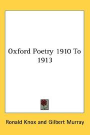 Cover of: Oxford Poetry 1910 To 1913