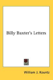 Cover of: Billy Baxter