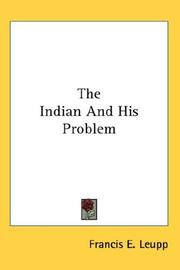 Cover of: The Indian And His Problem