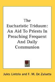 Cover of: The Eucharistic Triduum | Jules Lintelo