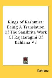 Cover of: Kings of Kashmira | Kahlana