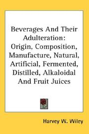 Cover of: Beverages And Their Adulteration