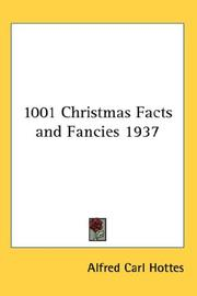 Cover of: 1001 Christmas Facts and Fancies 1937