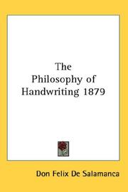 Cover of: The Philosophy of Handwriting 1879