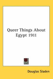 Cover of: Queer Things About Egypt 1911