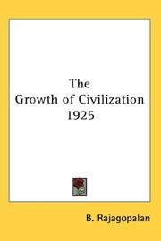Cover of: The Growth of Civilization 1925