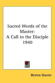 Cover of: Sacred Words of the Master