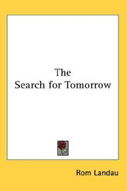 Cover of: The Search for Tomorrow