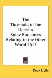 Cover of: The Threshold of the Unseen