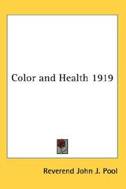 Cover of: Color and Health 1919