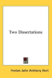 Cover of: Two dissertations