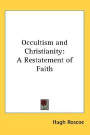 Cover of: Occultism and Christianity