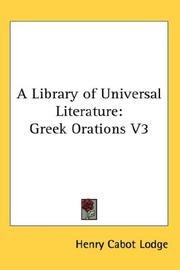Cover of: A Library of Universal Literature