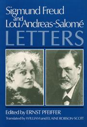 Cover of: Sigmund Freud, Lou Andreas-Salomé, Briefwechsel