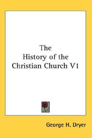 Cover of: The History of the Christian Church V1