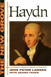 Cover of: The New Grove Haydn (New Grove Composer Biographies) | Jens Peter Larsen