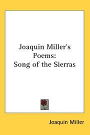 Joaquin Millers Poems
