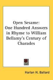 Cover of: Open Sesame | Harlan H. Ballard