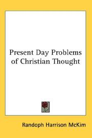 Cover of: Present Day Problems of Christian Thought