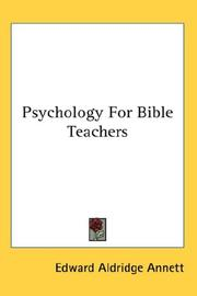 Cover of: Psychology For Bible Teachers