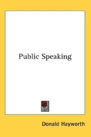 Cover of: Public Speaking | Donald Hayworth