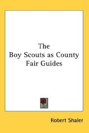 Cover of: The Boy Scouts as County Fair Guides