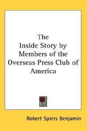 Cover of: The Inside Story by Members of the Overseas Press Club of America