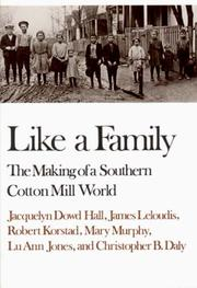 Cover of: Like a Family | Jacquelyn Dowd Hall