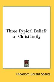 Cover of: Three Typical Beliefs of Christianity