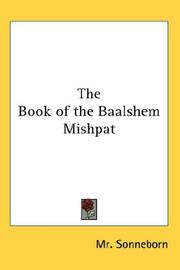 Cover of: The Book of the Baalshem Mishpat