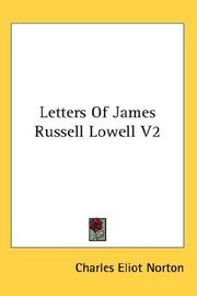 Cover of: Letters Of James Russell Lowell V2