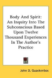 Cover of: Body And Spirit | John D. Quackenbos