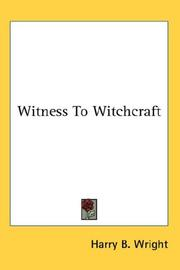 Cover of: Witness to witchcraft