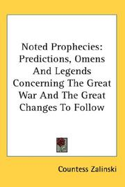 Cover of: Noted Prophecies | Countess Zalinski