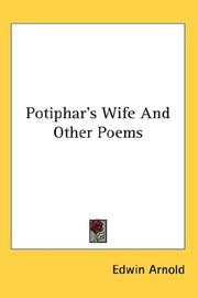 Cover of: Potiphar's Wife And Other Poems