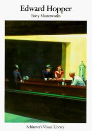 Cover of: Edward Hopper | Schirmers Visual Library