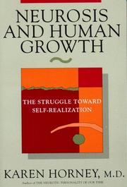 Cover of: Neurosis and human growth