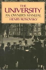 Cover of: The University by Henry Rosovsky