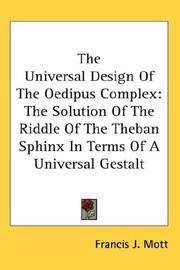 Cover of: The Universal Design Of The Oedipus Complex