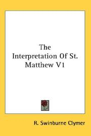The Interpretation Of St. Matthew V1
