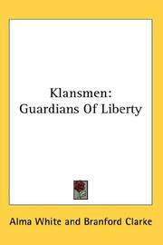 Cover of: Klansmen | Alma White