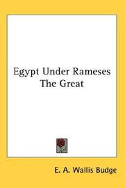 Cover of: Egypt Under Rameses The Great