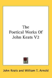 Cover of: The Poetical Works Of John Keats V2