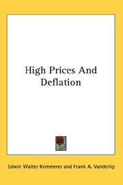 Cover of: High prices and deflation