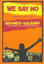 Cover of: We say no