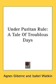 Cover of: Under Puritan Rule